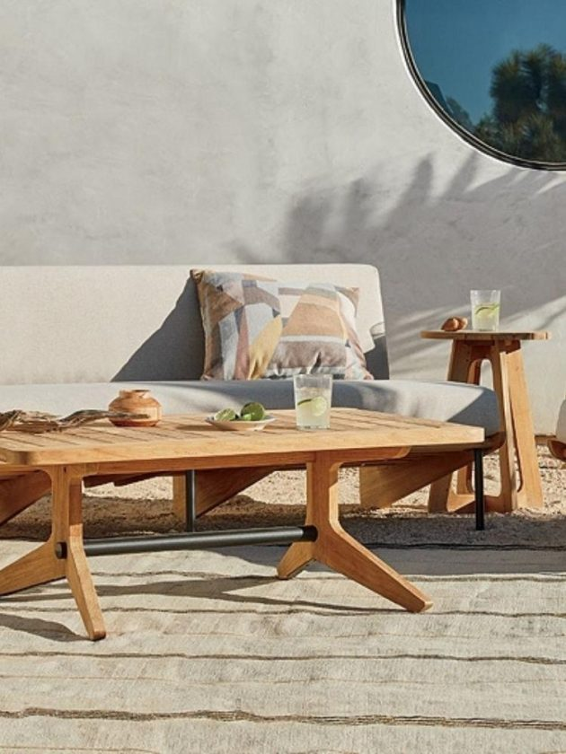 Sustainable outdoor sofa and tables from Crate & Barrel