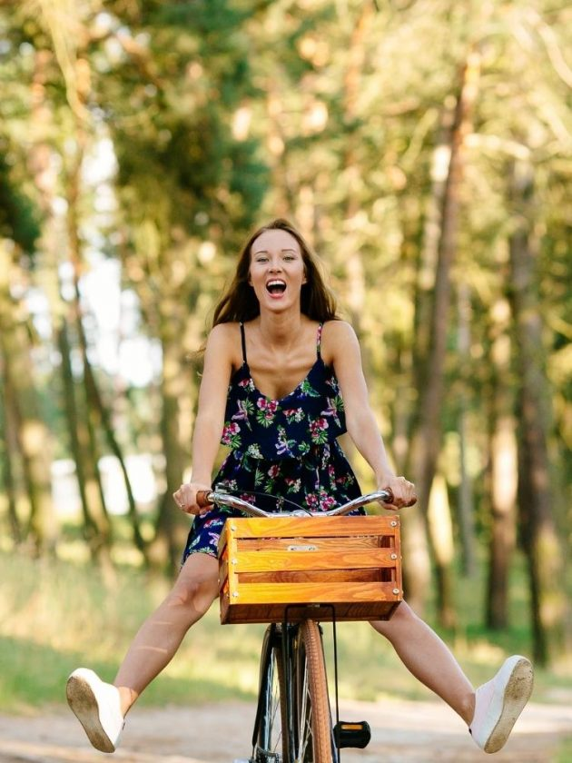 Eighth Eco Lifestyle Hack - Women riding bicycle