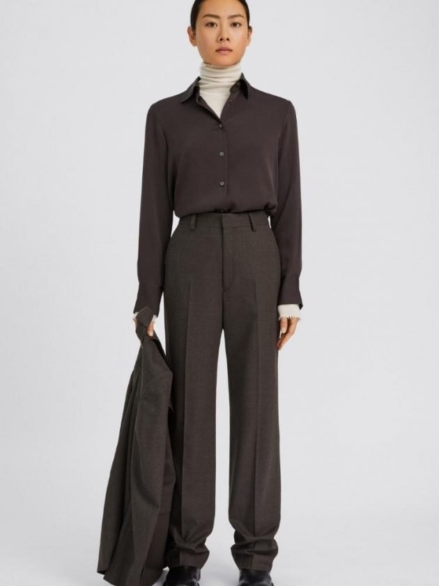 Sustainable brown wear to work outfit from Fillippa K