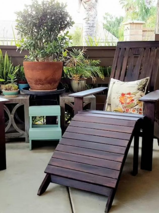 Sustainable brown outdoor chair from Iris and Elm