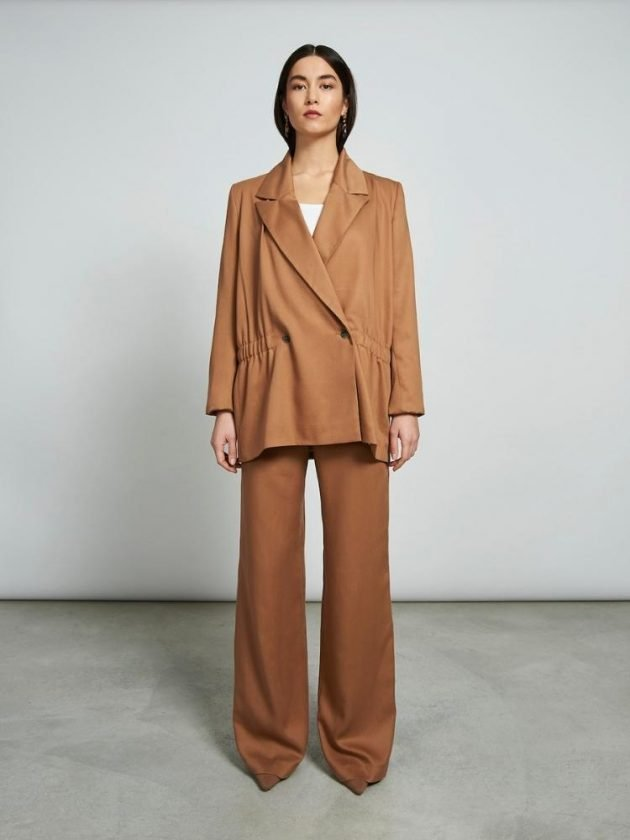 Sustainable orange workwear outfit from Jan 'n' June