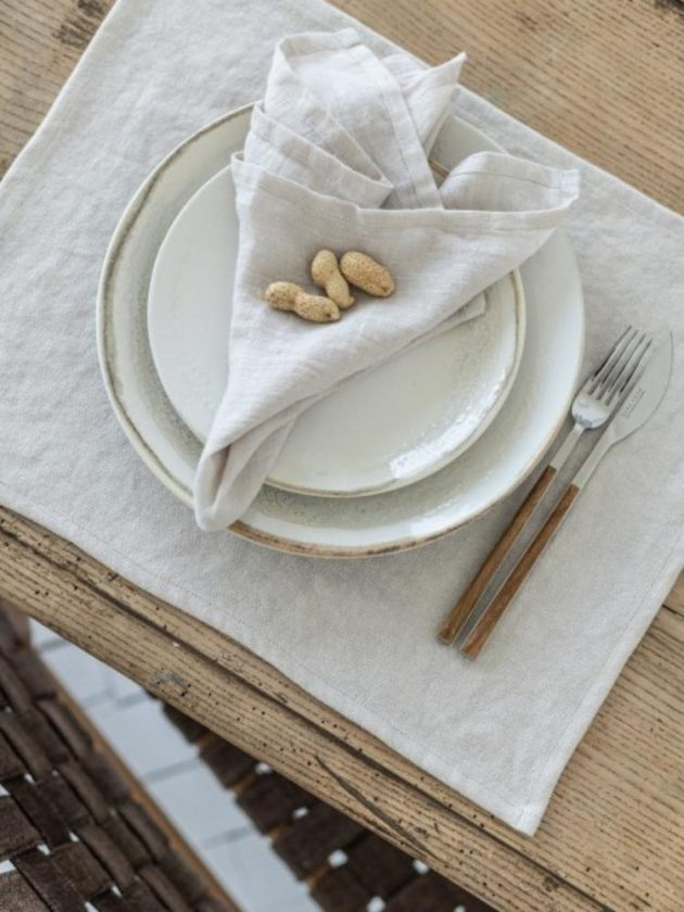 Sustainable linen placemat from Sauth's