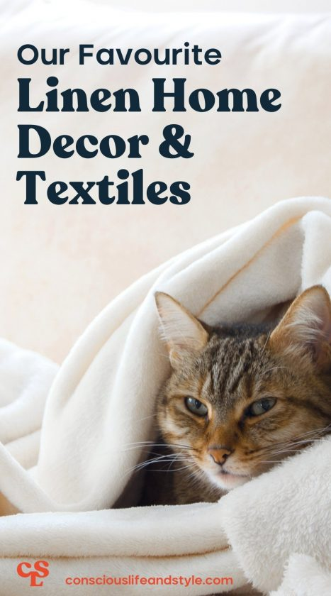Linen Home Decor & Textiles for your natural home - Conscious Life and Style