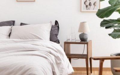 White linen bedding