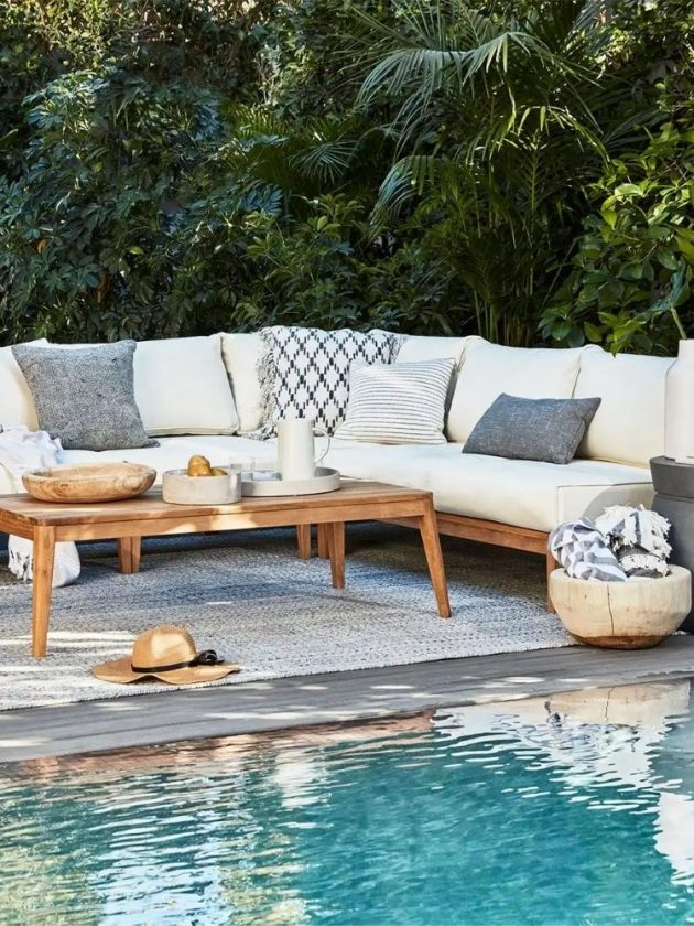 Eco-friendly outdoor sofa and table from outer