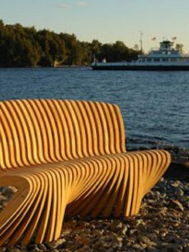 Sustainable outdoor bench from Reforest Teak