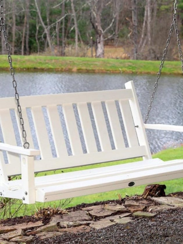 Eco-friendly outdoor porch swing from Serendipity Farm