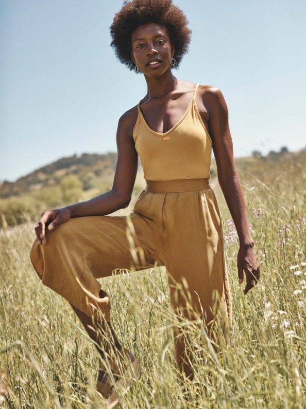 Yellow sustainable basics from Amour Vert