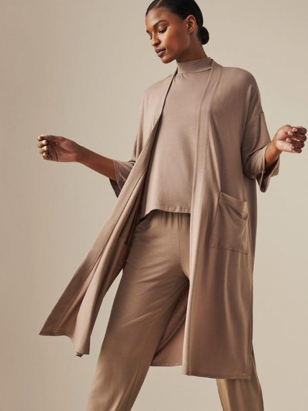 Brown sustainable basics from Eileen Fisher