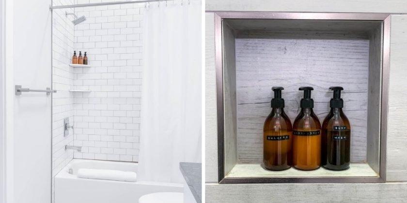 Bathroom in Sustainable Nashville Hotel Mason Lofts