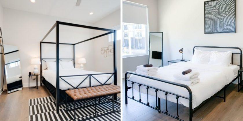 Bedrooms in Sustainable Hotel in Nashville Mason Lofts