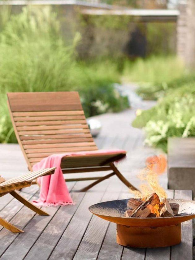 Sustainable outdoor chair from Viva Terra