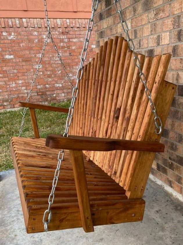 Sustainable outdoor swing from Woodworks By LeGrands
