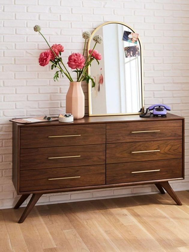Sustainable brown sideboards from West Elm Sustainably Sourced Collection