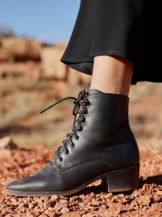 Ethical black boots from Christy Dawn