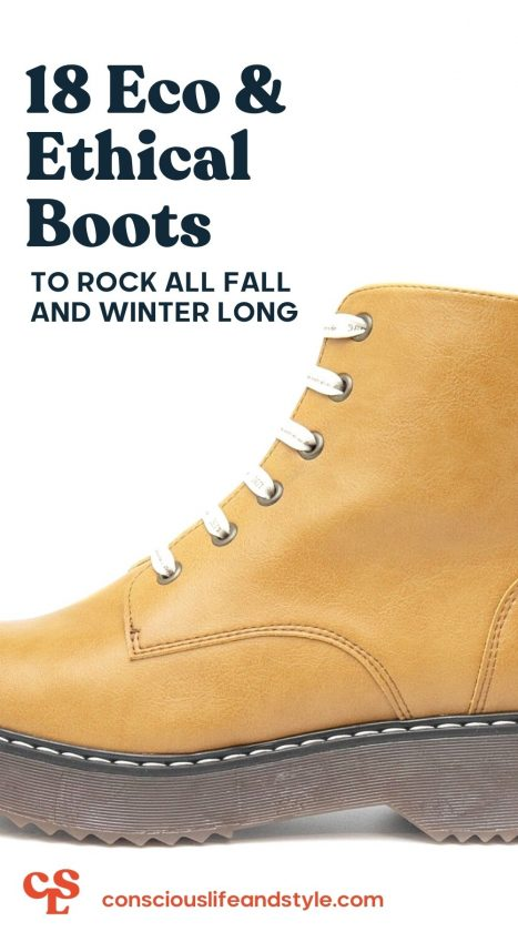 18 Eco & Ethical Boots to rock all fall and winter long - Conscious Life and Style