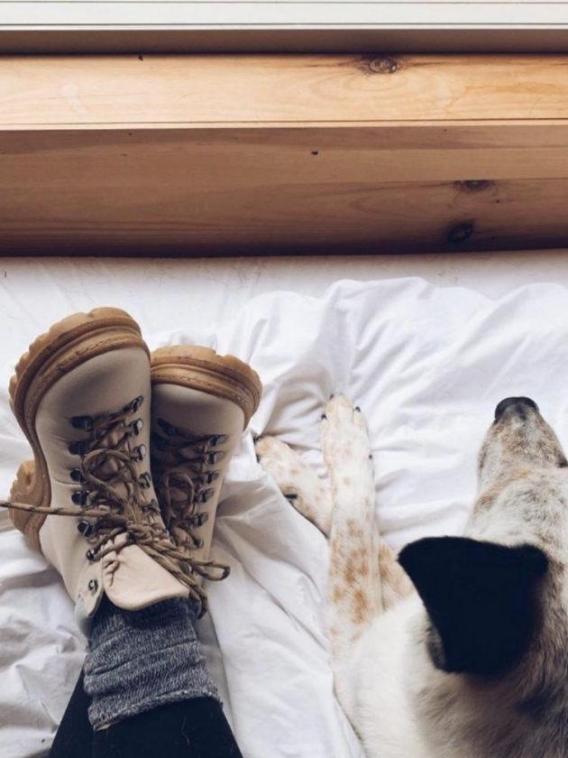 White sustainable boots from Alice + Whittles