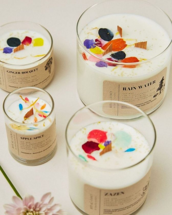Eco-friendly fancy candle from Made Trade as a sustainable stocking stuffer