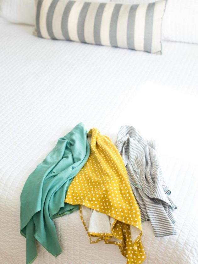 Eco-friendly organic t-shirt hair towel from Sunrise Bliss as a sustainable stocking stuffer