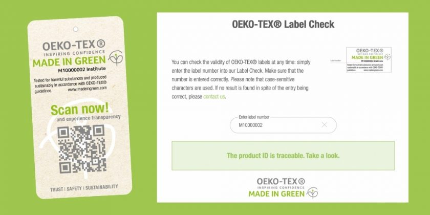 MADE IN GREEN by OEKO-TEX Label Check Tool