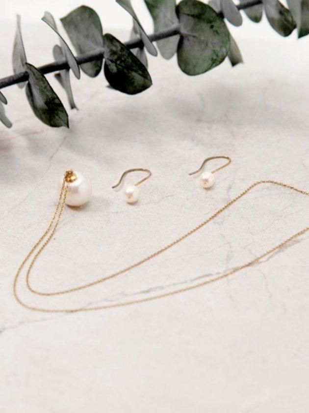 Eco-friendly pearl earrings from Arlokea  as an ethical stocking stuffer
